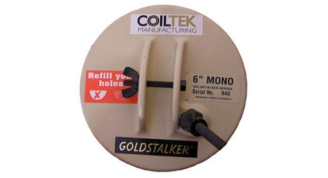 Coiltek 6 Mono Goldstalker coil for metal detector