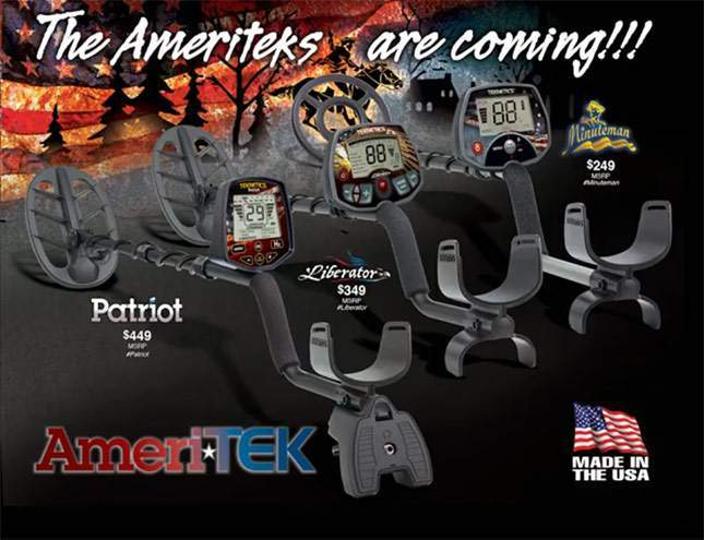 3 Teknetics AmeriTEK detectors (+ price). NEW 2017