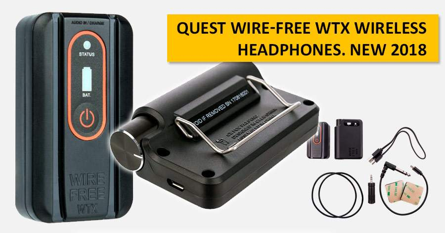 Quest Wire-Free WTX wireless headphones. NEW 2018