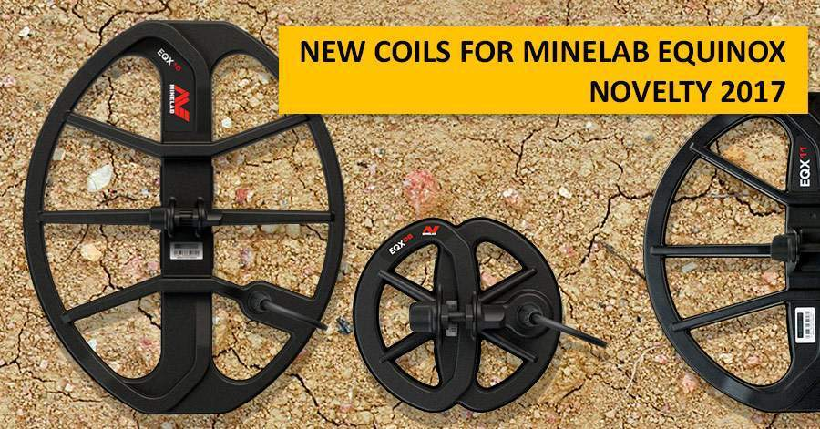 New coils for Minelab Equinox. Novelty 2017