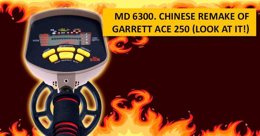 MD 6300. Chinese remake of Garrett ACE 250 (look at it!)