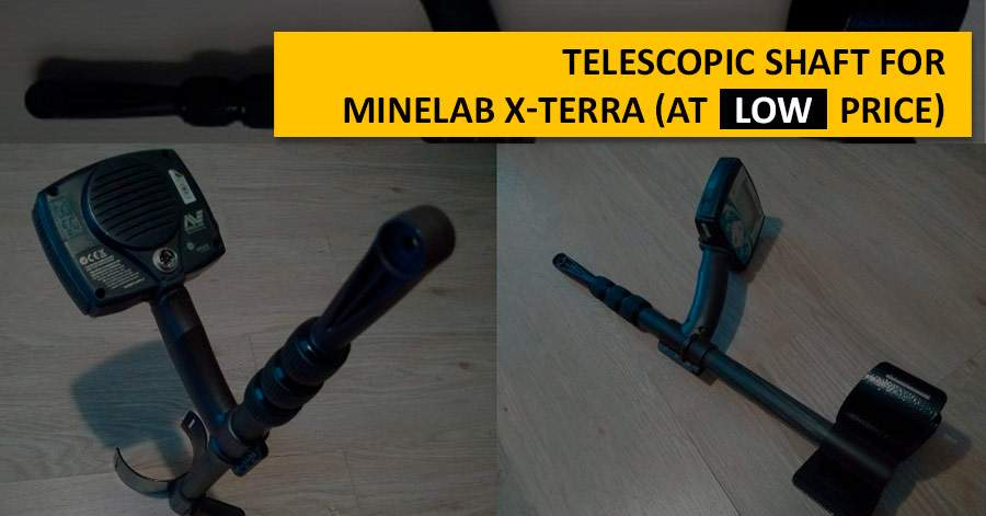 Telescopic shaft for Minelab X-Terra (at low price)