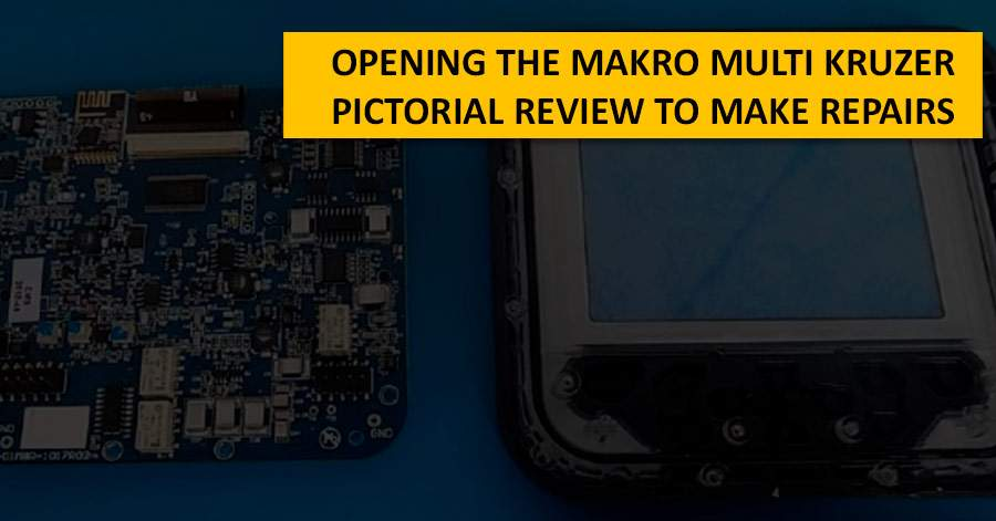 Opening the Makro Multi Kruzer. Pictorial review to make repairs