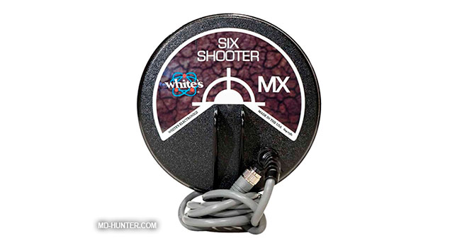 Whites 6 MX Six Shooter coil for metal detector