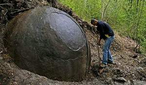 Giant sphere. Amazing finds