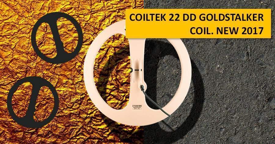 Coiltek 22 DD Goldstalker coil. NEW 2017