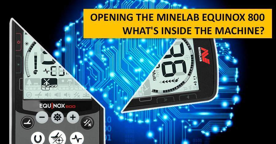 Opening the Minelab Equinox 800. What's inside the machine?