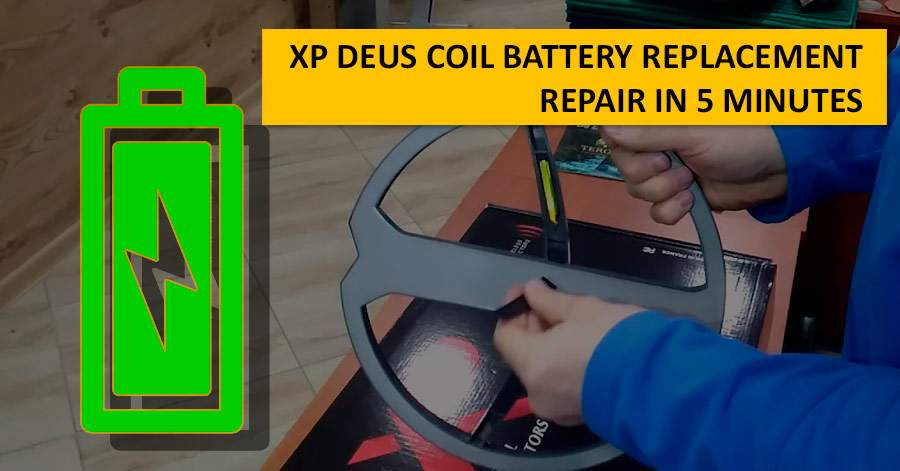 XP Deus Coil Battery Replacement. Repair in 5 minutes