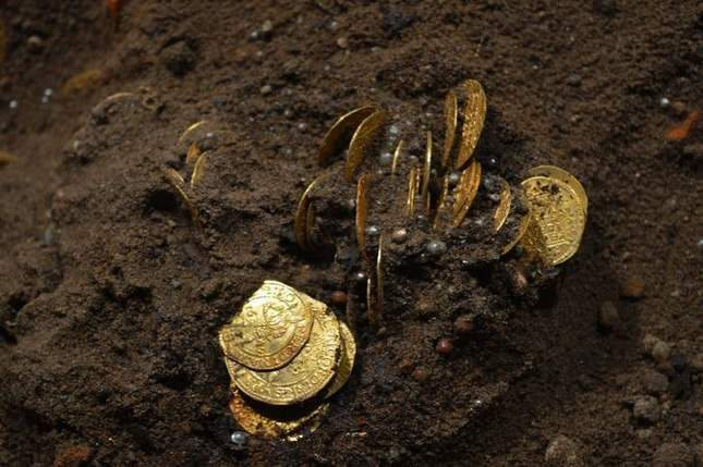 Hoard of gold coins found on January 2nd 2018