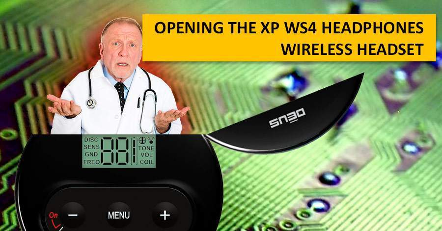 Opening the XP WS4 headphones. Wireless headset