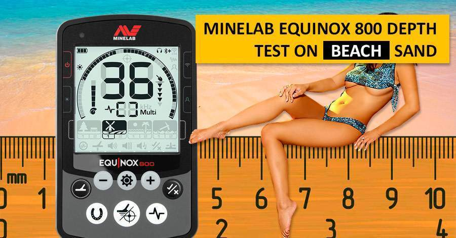 Minelab Equinox 800 Depth Test on beach sand