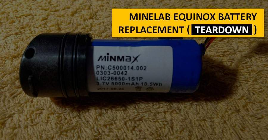 Minelab Equinox battery replacement (teardown)