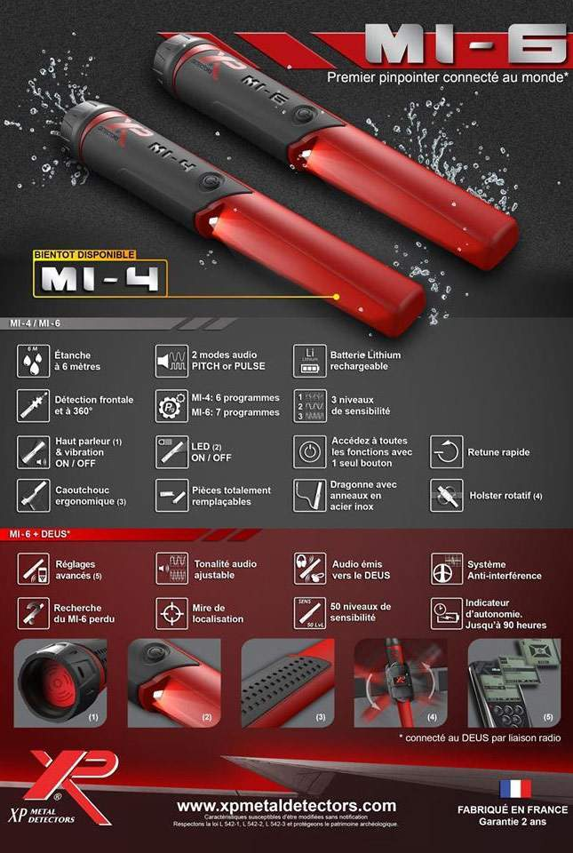 XP MI-4 pinpointer. NEW 2018 (price announced)