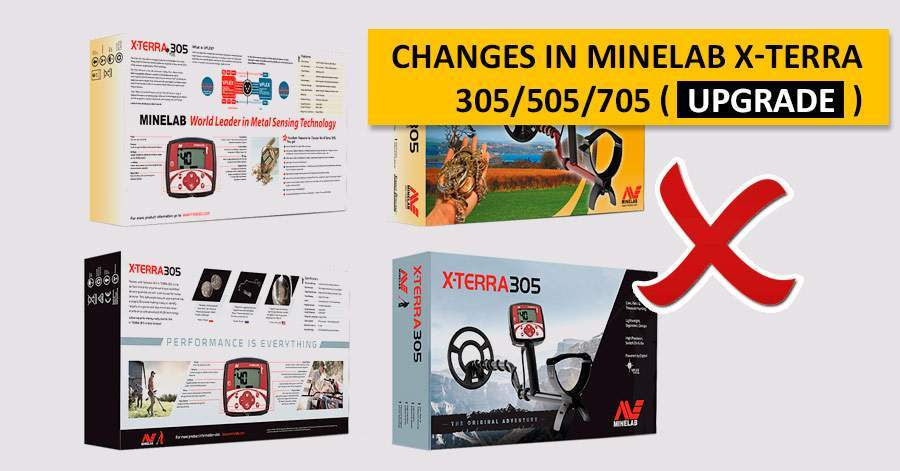 Changes in Minelab X-Terra 305/505/705 (upgrade)