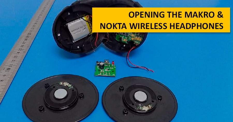 Opening the Makro / Nokta wireless headphones