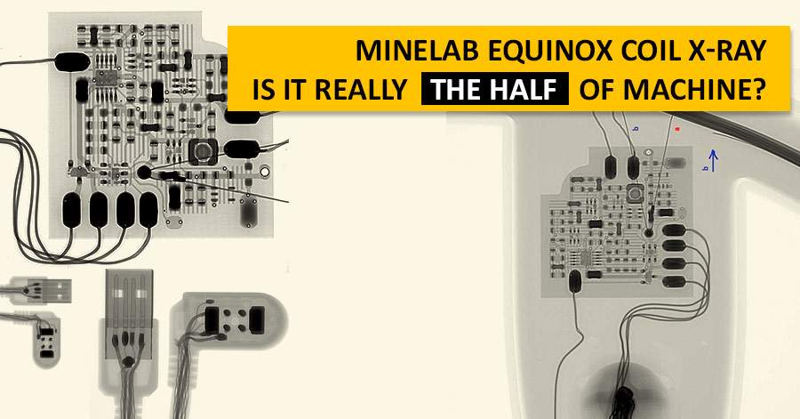 Minelab Equinox Coil X-Ray. Is it really the half of machine?