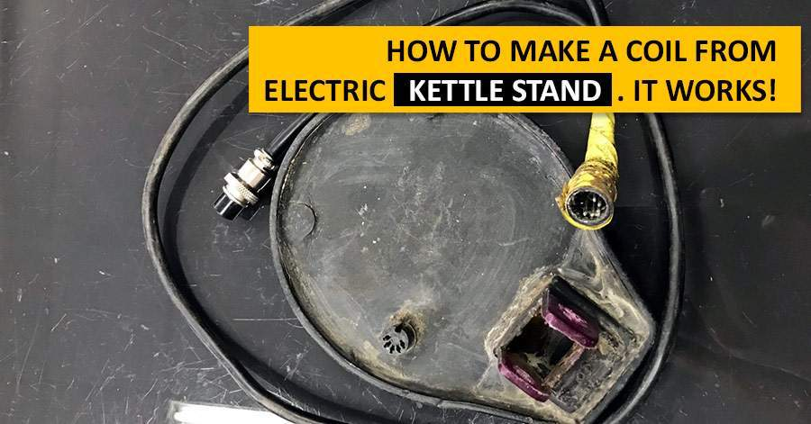 How to make a coil from electric kettle stand. It works!