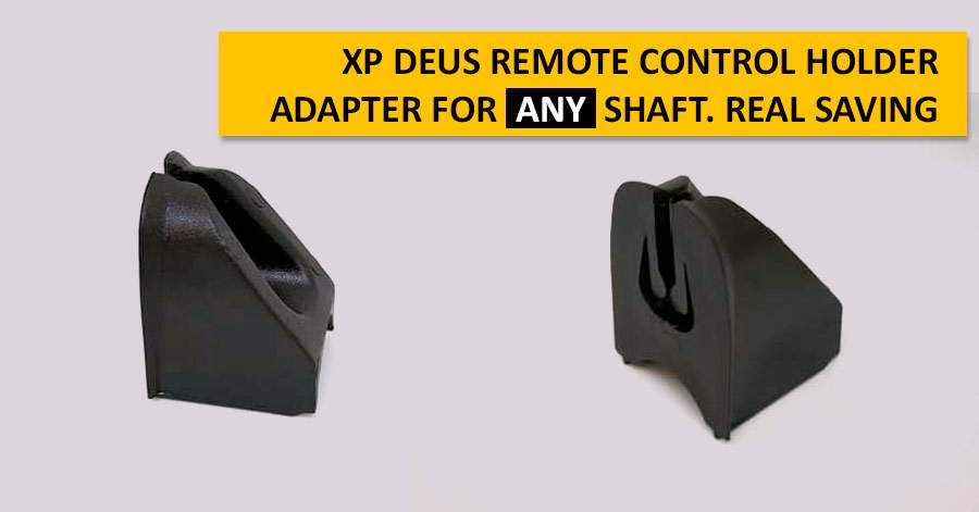 XP Deus Remote Control Holder Adapter for any shaft. Real saving