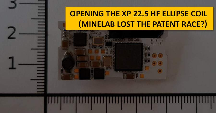 Opening the XP 22.5 HF Ellipse coil (Minelab lost the patent race?)