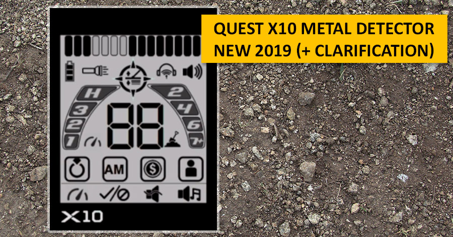 Quest X10 metal detector. NEW 2019 (+ clarification)